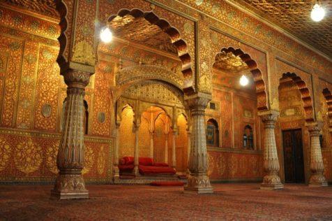 """ein außergewöhnliches Zimmer im Fort """"Junagarh"""" in Bikaner"""