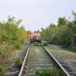 Der Bamboo Train in Battambang