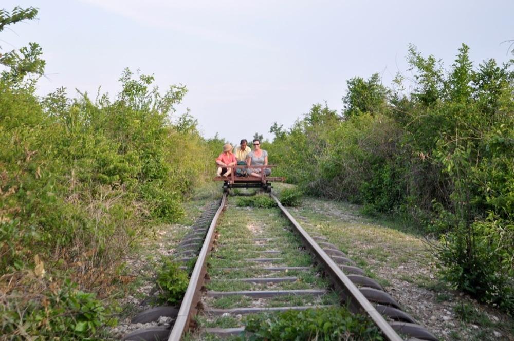 Der Bamboo Train in Battambang