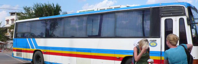 Scam Bus nach Siem Reap
