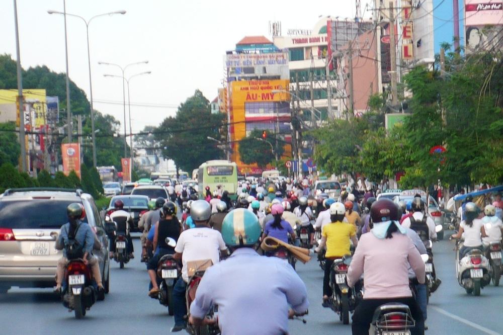 2 Mio. Mopeds auf den Straßen Saigons