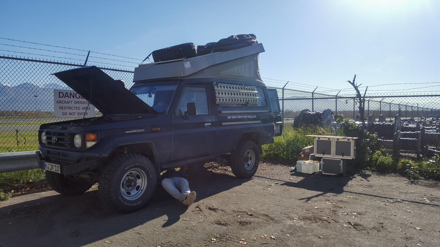 Anchorage und eine Diesel Standheizung