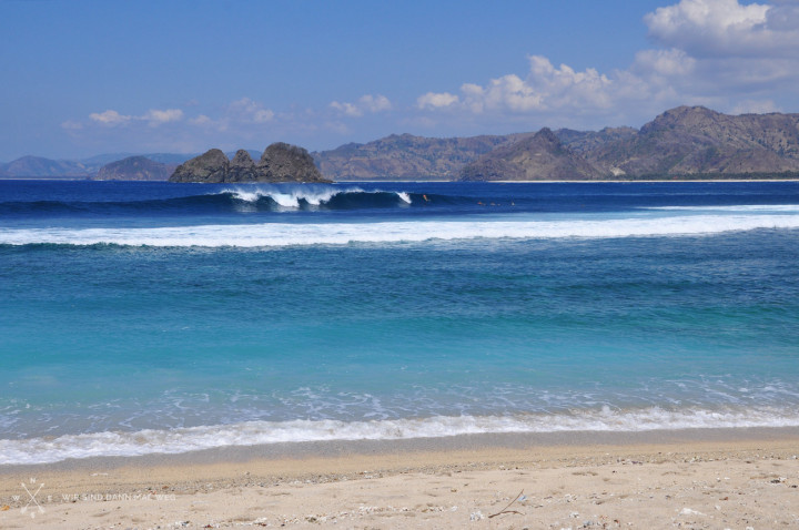 Surfen in Mawi, Lombok, Indonesien
