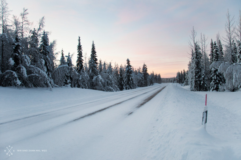 Im Winter in Äkäslompolo - Finnland