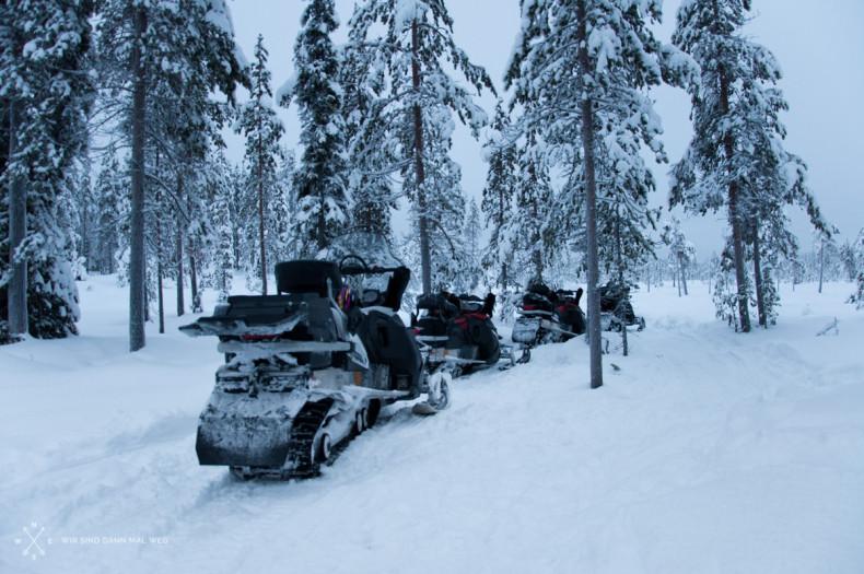 Schneemobil Tour - Wilderness Camp Aavajärvi