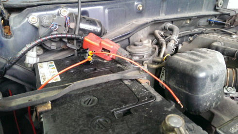 Anschluss BCB an Starterbatterie