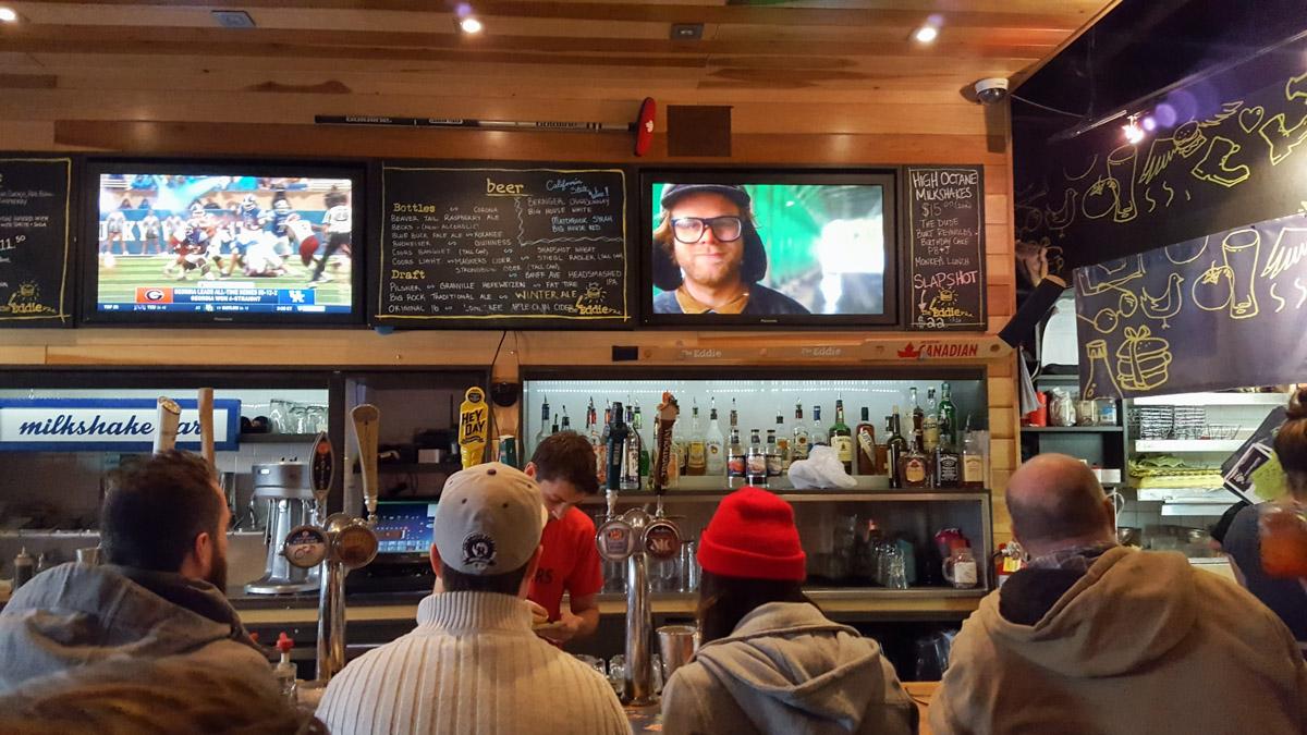 Burger Bar in Banff