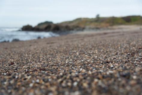Pebble Beach im Bean Hollow State Beach