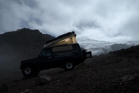 Gletscher des Vulkan Cayambe
