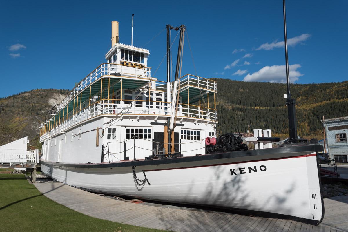 Der Raddampfer SS Keno