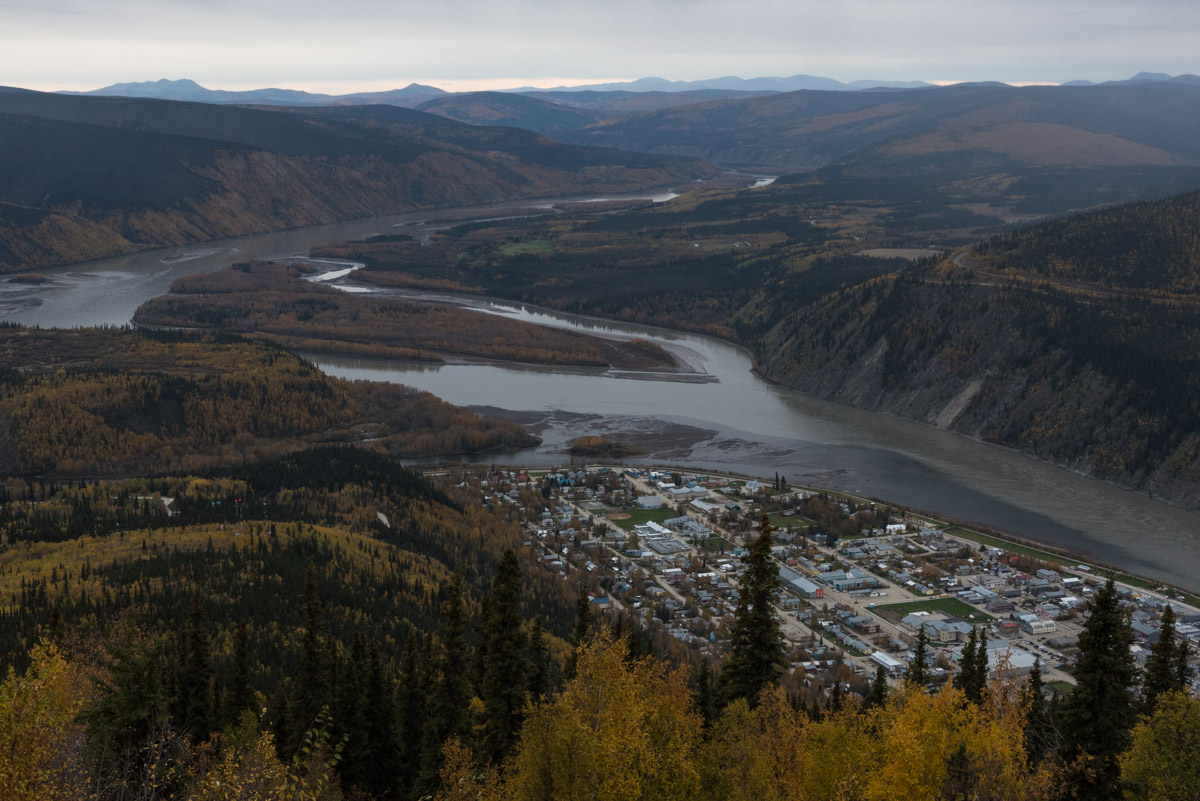 Dawson City vom Midnight Dome