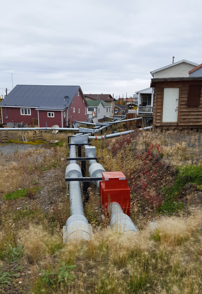 Überirdische Wasserleitungen