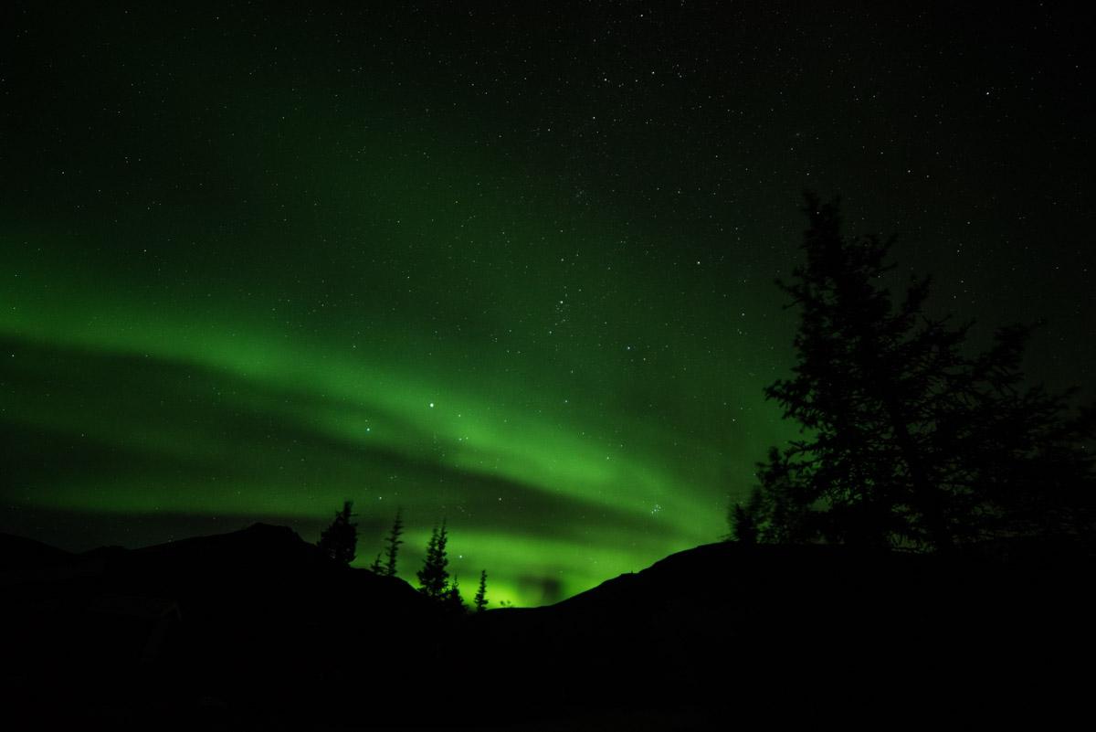 Atemberaubende Nordlichter