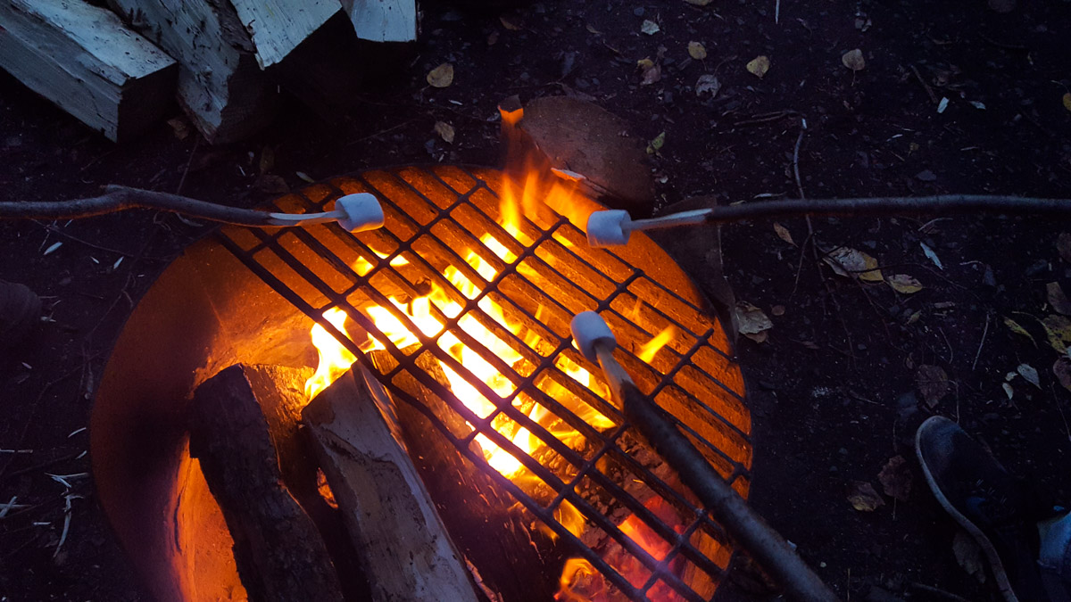 Marshmallows am Lagerfeuer