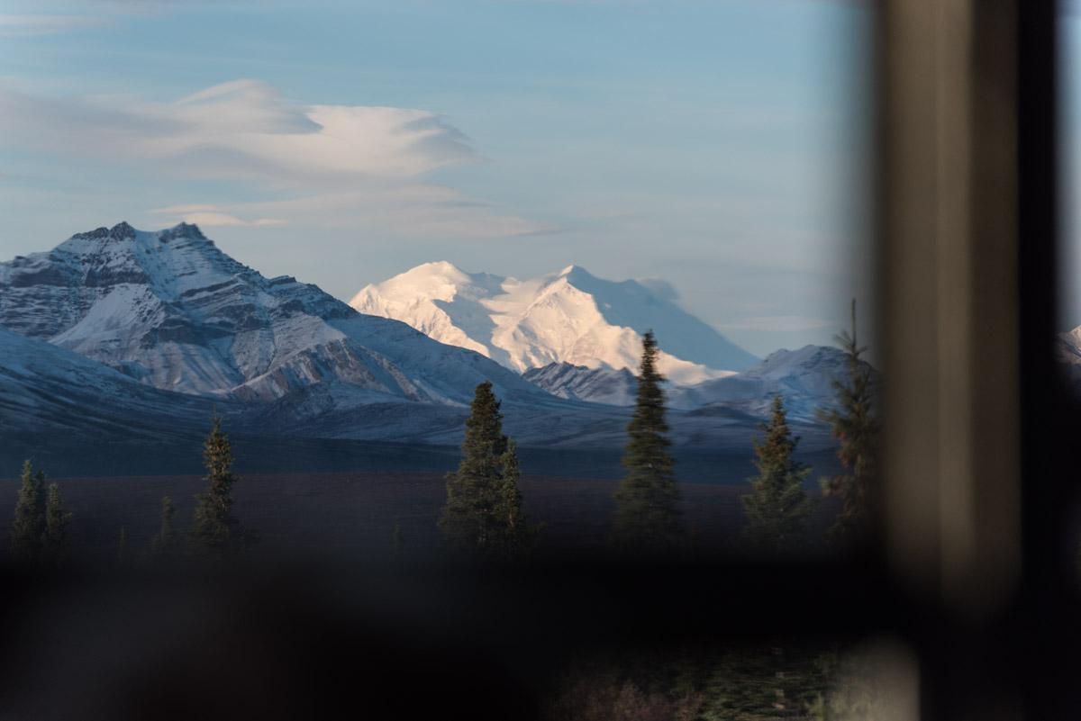 Ein erster Blick auf den Mt Denali