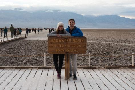 Badwater Basin -84m unter dem Meeresspiegel