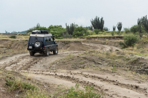 Regen in der Tatacoa Wüste