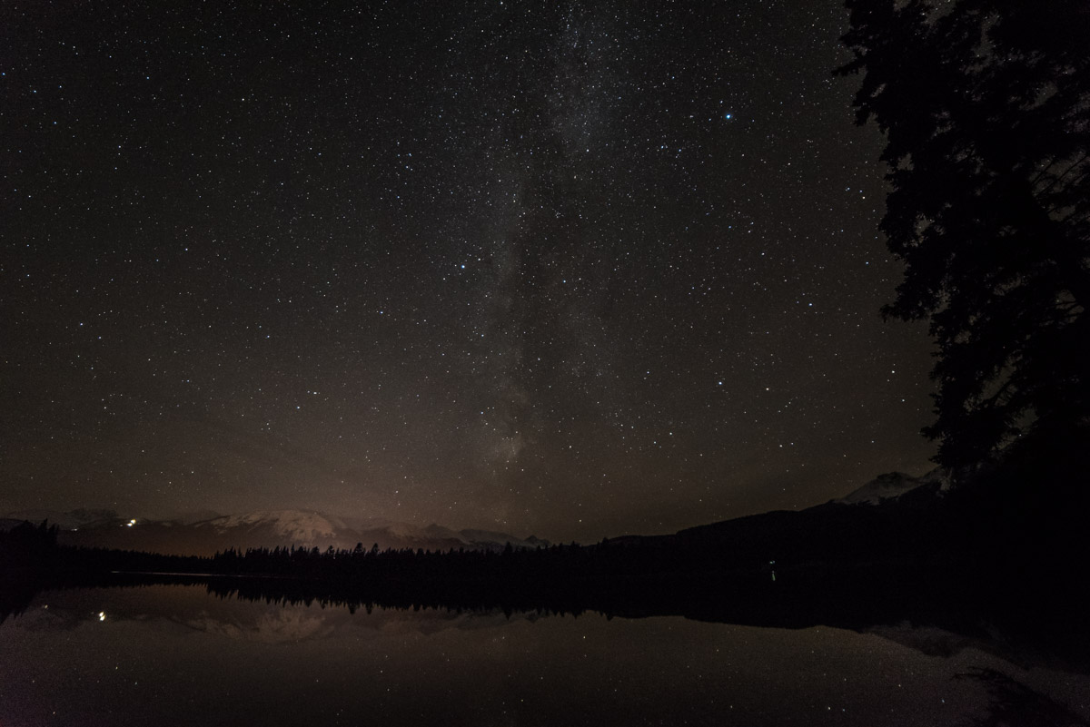 Sternenhimmel am Edith Lake