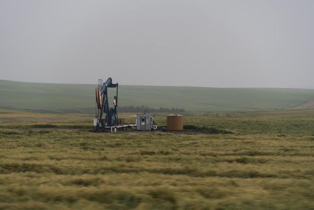 Ölförderturm in Alberta