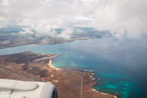 Blick auf Isla Baltra