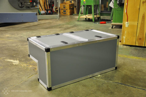 fertiggestellte Radkastenbox