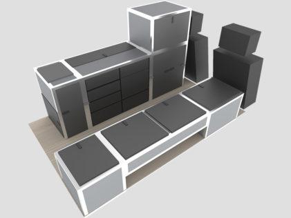 Innenausbau 3D Entwurf