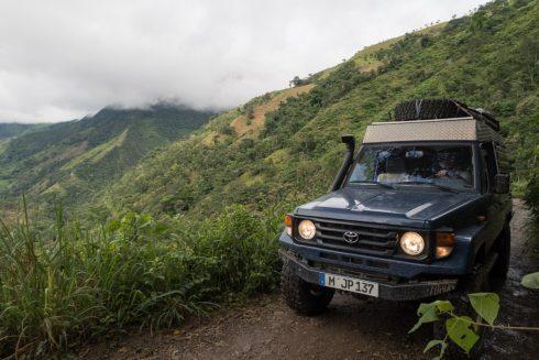 Dirtroad durch die Berge