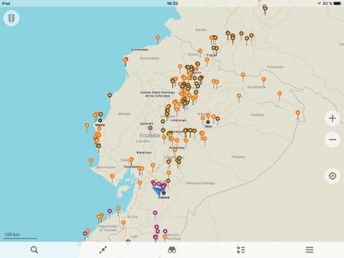 MapsMe - Übersicht Pins