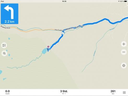 MapsMe - Detailansicht Route