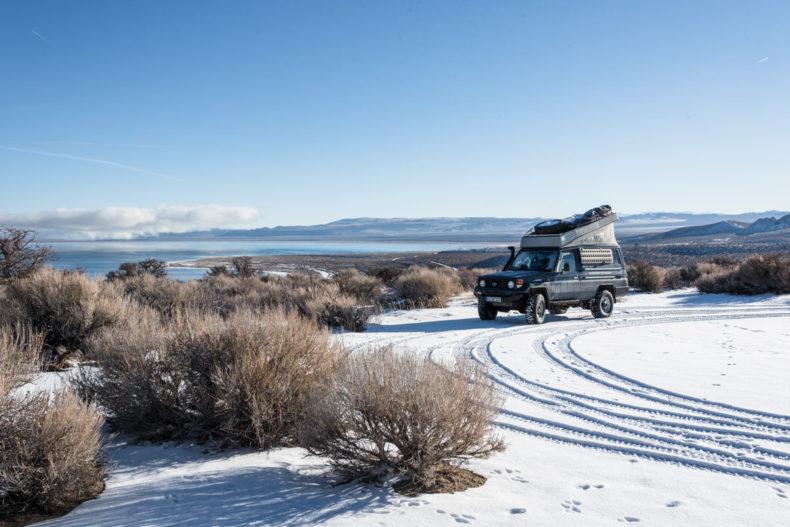 Campen am Mono Lake
