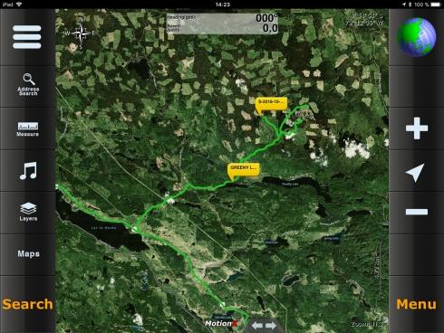 MotionX - Bing Hybrid Karte