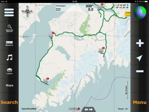 "MotionX - integrierte ""Road"" Karte"