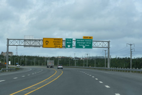Kilometer 0 des Transcanada Highways