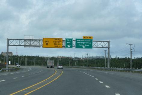Kilometer 0 des Transcanada Highways
