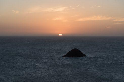 Sonnenuntergang beim Leuchtturm