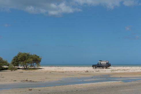 Dirtroad entlang der Küste