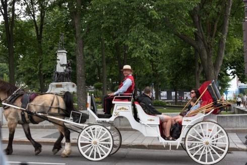 Kutsche in Quebec City