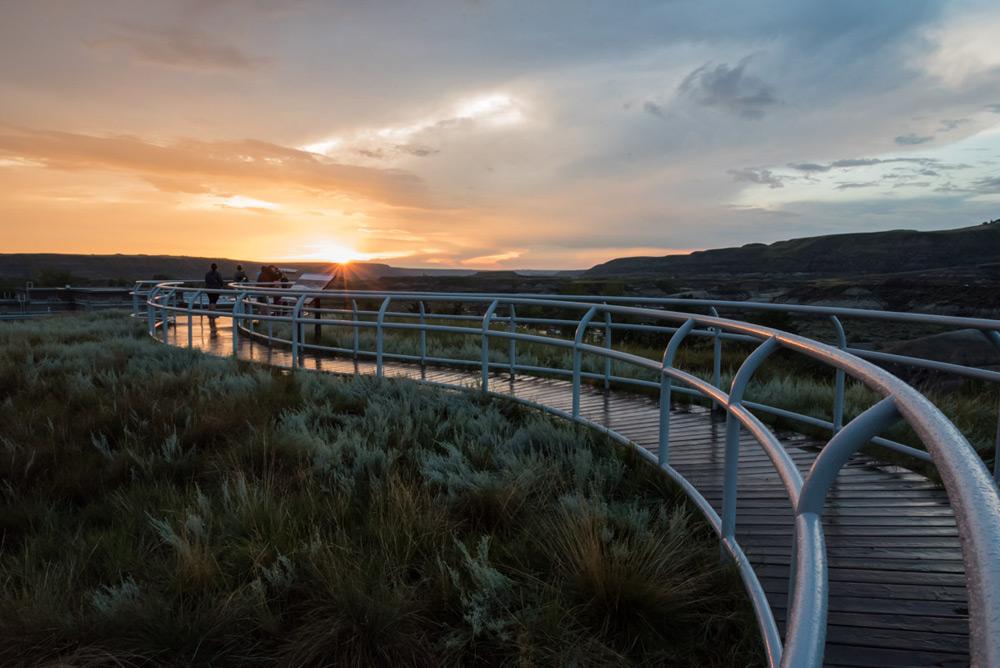 Sonnenuntergang beim Royal Tyrrell Museum