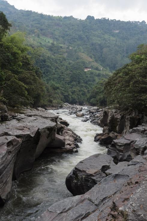 Die Stromschnellen des Rio Magdalena