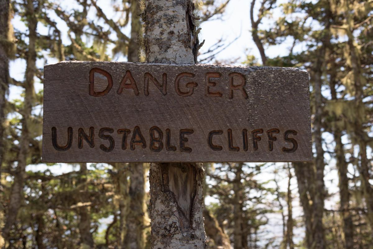 Danger - Unstable Cliffs