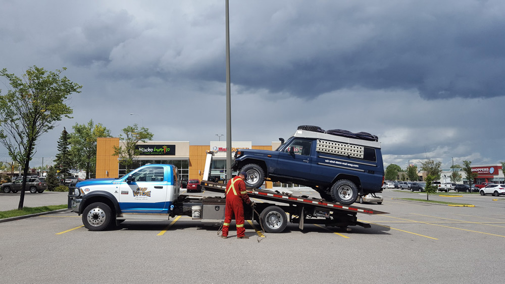 Abschleppwagen in Calgary