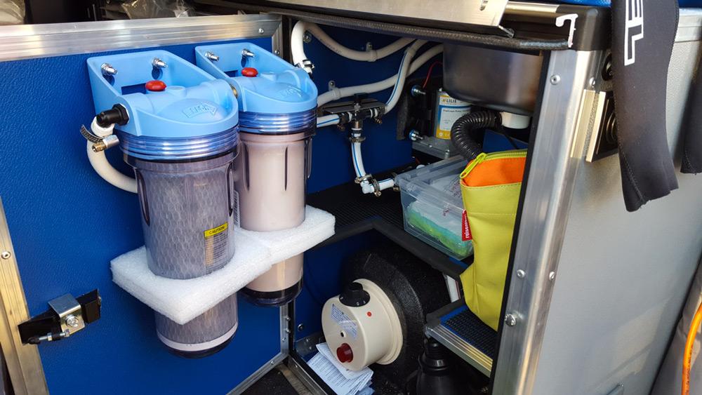 Installation der Wasserfilter
