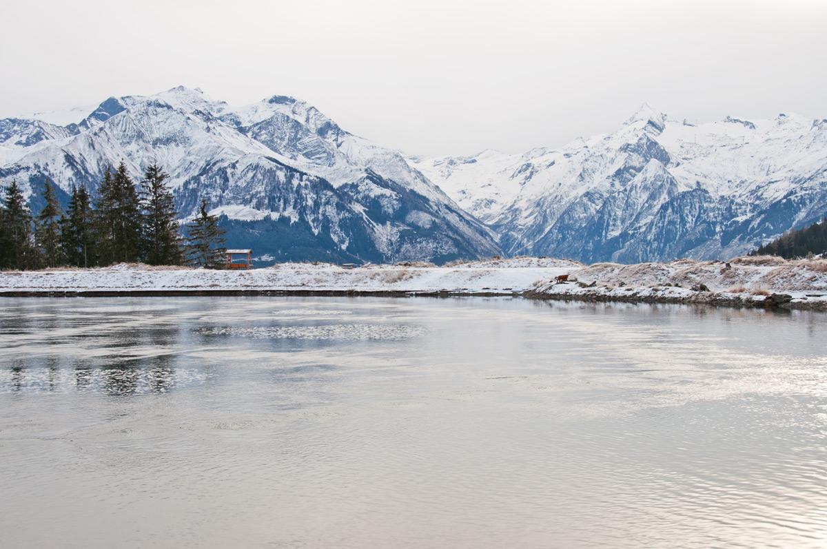 Eine Winterwanderung zum Speicherteich Zell am See